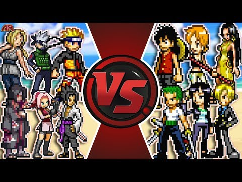 NARUTO Vs ONE PIECE TOTAL WAR! (Naruto Vs Luffy Anime Movie) | Cartoon Fight Rewind