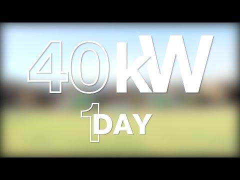 Installing 165 Solar Panels, 40kW, 1 Day - SolarCity