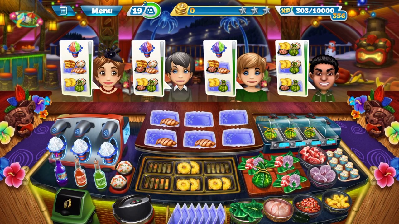 Cooking Fever: Aloha Bistro: Level 40: 3 Stars - YouTube