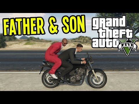 FATHER and SON FUNNY ADVENTURES in GTA 5 (GTA V Gameplay Co-op)
