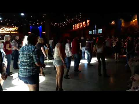 Line dancing tuition at Stoney's Rockin' Country, Las Vegas