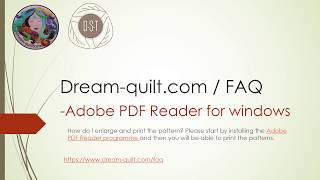 Tips and Tricks - FAQ AdobeReader download and print the pattern