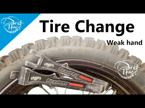 Left handed (tube) tire change for the trail - MP BeadPro