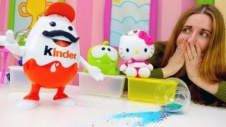 Видео Киндер Сюрприз, Хелло Китти и другие игрушки! Игры про магию и волшебство.