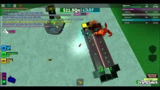 Roblox Miner's Haven Dragon Blaster setup Life 3-50!