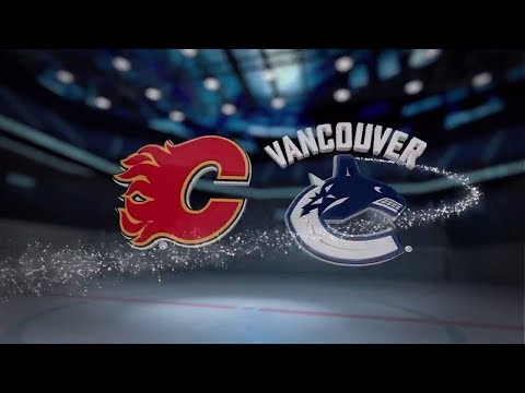 Calgary Flames vs Vancouver Canucks - October 14, 2017 | Game Highlights | NHL 2017/18. Обзор матча
