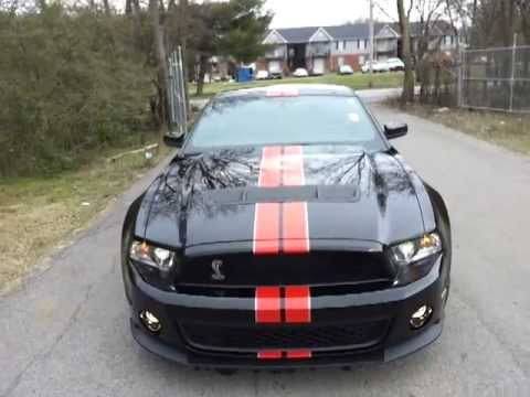 Sold 2012 Shelby Gt500 Black W Red Stripes Svt