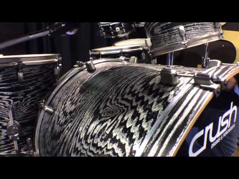 2014 Winter NAMM Crush Drums AXM Sublime Ash-Maple Hybrid Kit