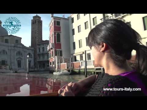 Touring the Grand Canal in Venice, Italy