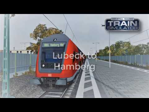Passenger service from Lubeck destined for Hamburg- Train Simulator 2017