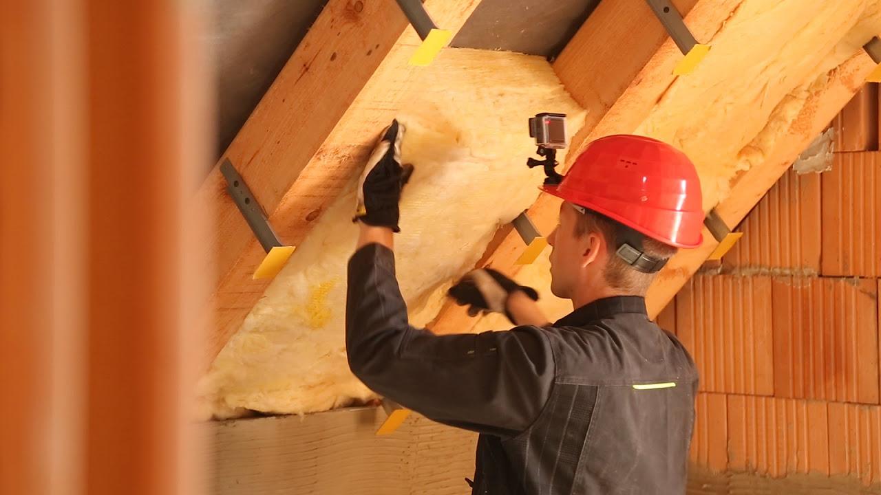 Zateplení šikmé střechy v podkroví - izolace ISOVER UNIROL PROFI