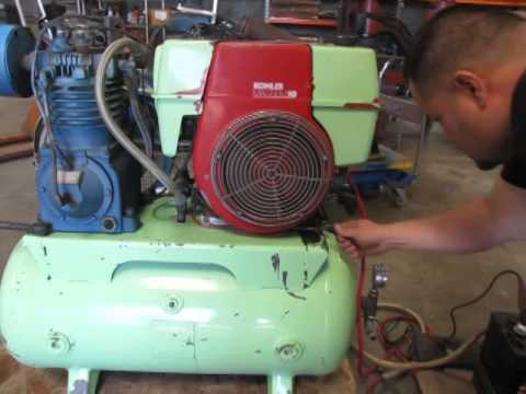Kellogg American Air Compressor 10 Hp Kohler Gas Engine 20