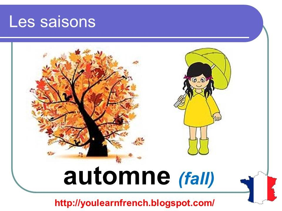 French lesson 8 the four seasons in french les saisons for Le jardin des 4 saisons bazoches