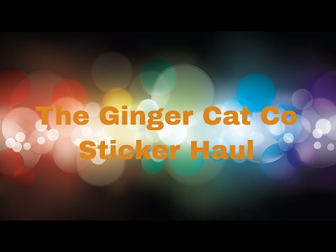The Ginger Cat Co - Sticker Haul  | Seeing Spots