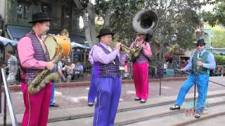 Jambalaya Jazz Band Performs At Disneyland In New Orleans Square