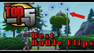 TOP 5 Best Bottle Flips In Fortnite...