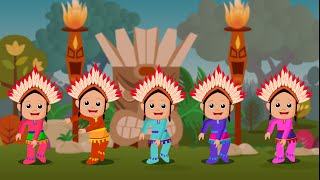 Ten Little Indians | Cartoon Animation Nursery Rhyme Songs for Children