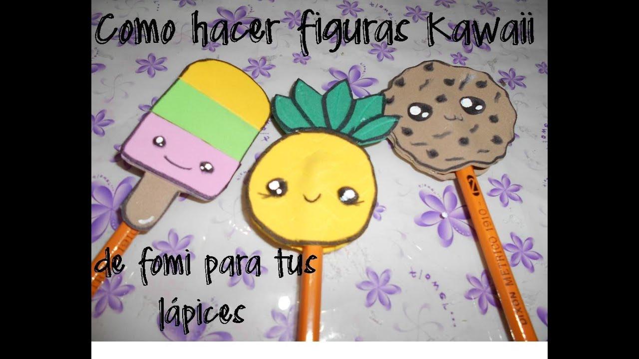 Figuras kawaii de fomi para adornar tus lapices muy for Cosas faciles para decorar