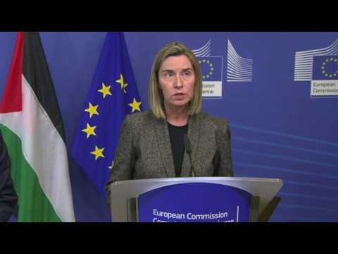 'EU at the side of the Palestinian people'        #Israel #Palestine
