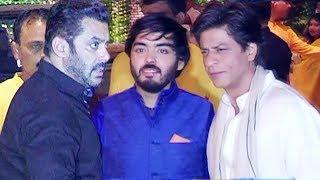 Salman Khan & Shahrukh Khan At Ambani's Ganapati Celebration 2017