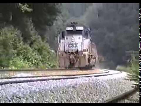CSX Trains West Virginia June 1992