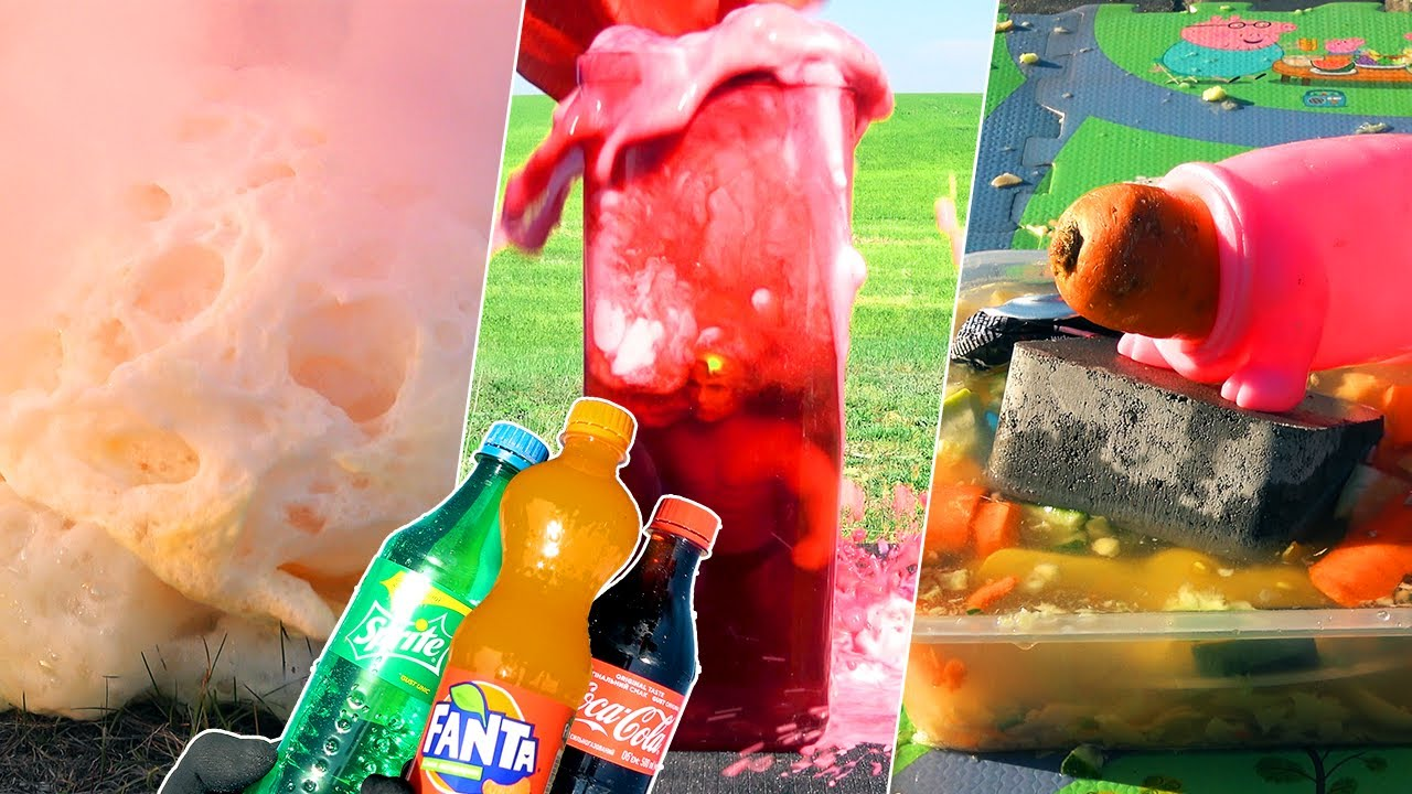 TOP 3 EXPERIMENTS of Month: Coca-Cola VS Elephant Toothpaste VS Hammer