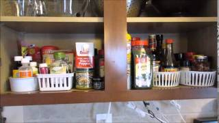 Easy Spice Cabinet Organization (using 2 Dollar Tree Bins :)