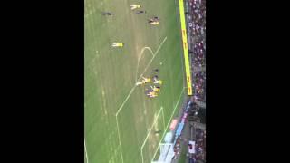 シンガポール ナショナルスタジアム 日本 VS ブラジル 本田のフリーキック