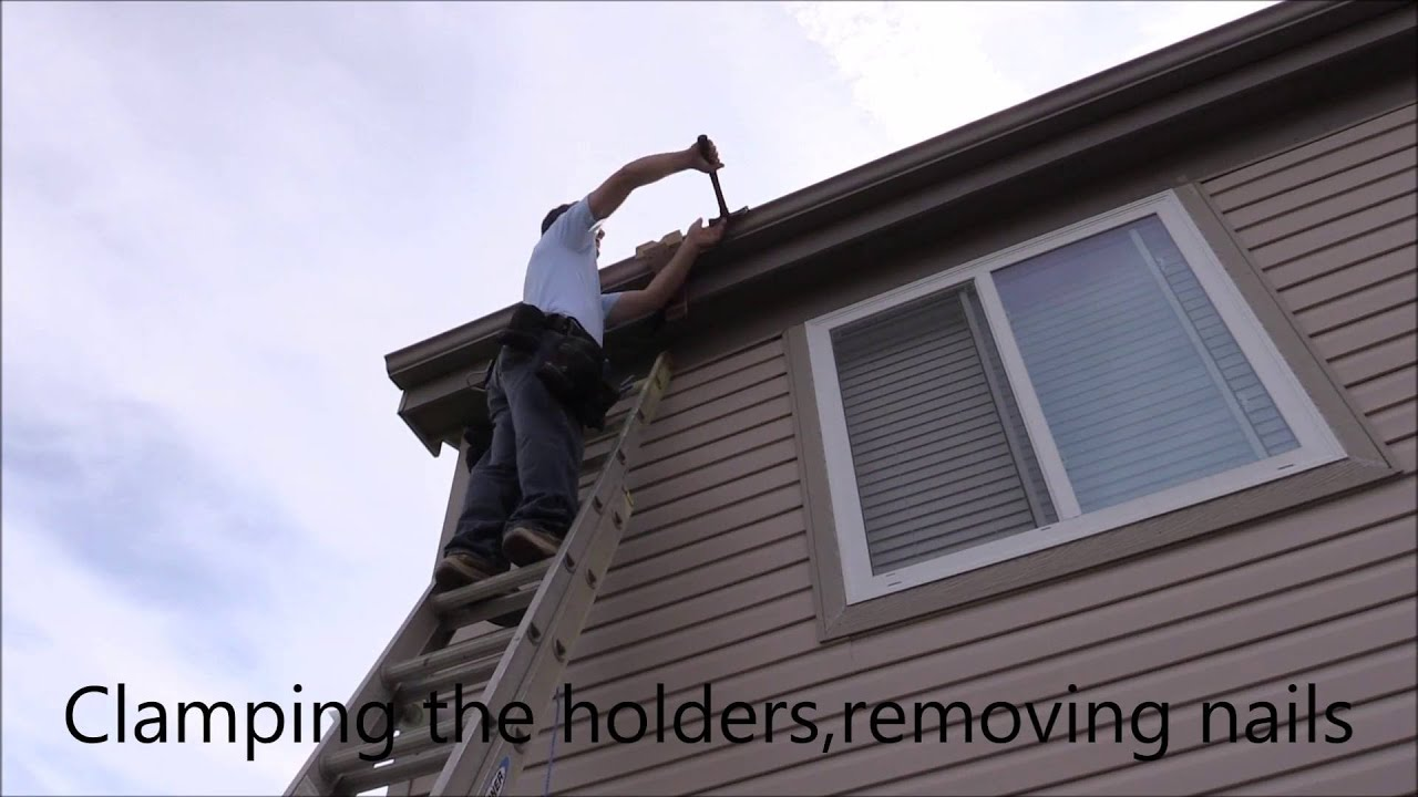 Diy one man removing and installing a gutter youtube diy one man removing and installing a gutter solutioingenieria Gallery