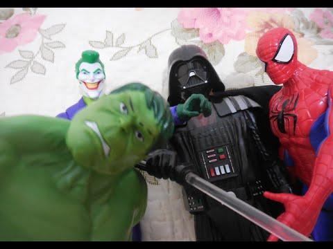 Darth Vader Anakin Star Wars Coringa Joker Homem Aranha Hulk Boneco Marvel Toys Juguetes Kids