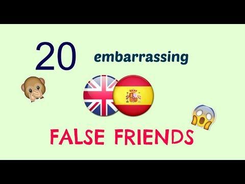 20 embarrassing English-Spanish false friends  20 falsos amigos inglés-español