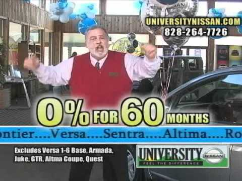 0% For 60 At University Nissan In Boone, NC