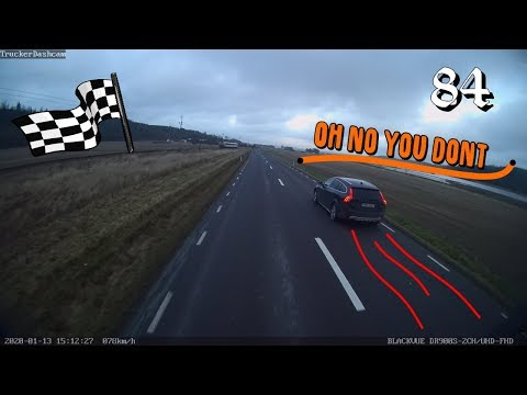Trucker Dashcam #84 The Race Is On!! Truck Vs. Car!