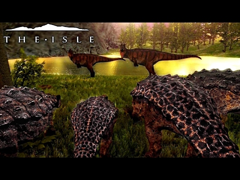 The Isle - REALISM ANKY FAMILY FORCED TO DEFEND BABIES, NESTING & THE LIFE OF A HONKER - Gameplay