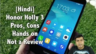 Hindi | Honor Holly 3 India Hands on, Pros, Cons, Comparison | Gadgets To Use