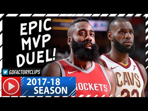 Thumbnail: James Harden vs LeBron James EPIC MVP Duel Highlights (2017.11.09) Cavs vs Rockets - MUST SEE!