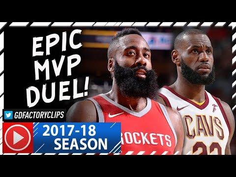 James Harden vs LeBron James EPIC MVP Duel Highlights (2017.11.09) Cavs vs Rockets - MUST SEE!