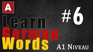 Learn German Words - Part 6 | The Amoozesh