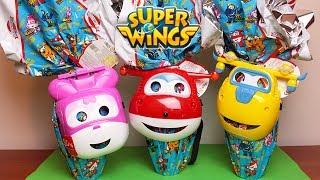 SUPER WINGS - Unboxing di 3 Uova di Pasqua Dolci Preziosi con sorprese [Apertura in italiano]