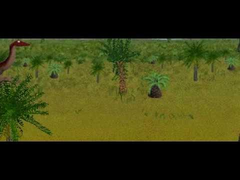 Dinosaur Safari (Early Cretaceous) Clip #2: Archaeornithomimus