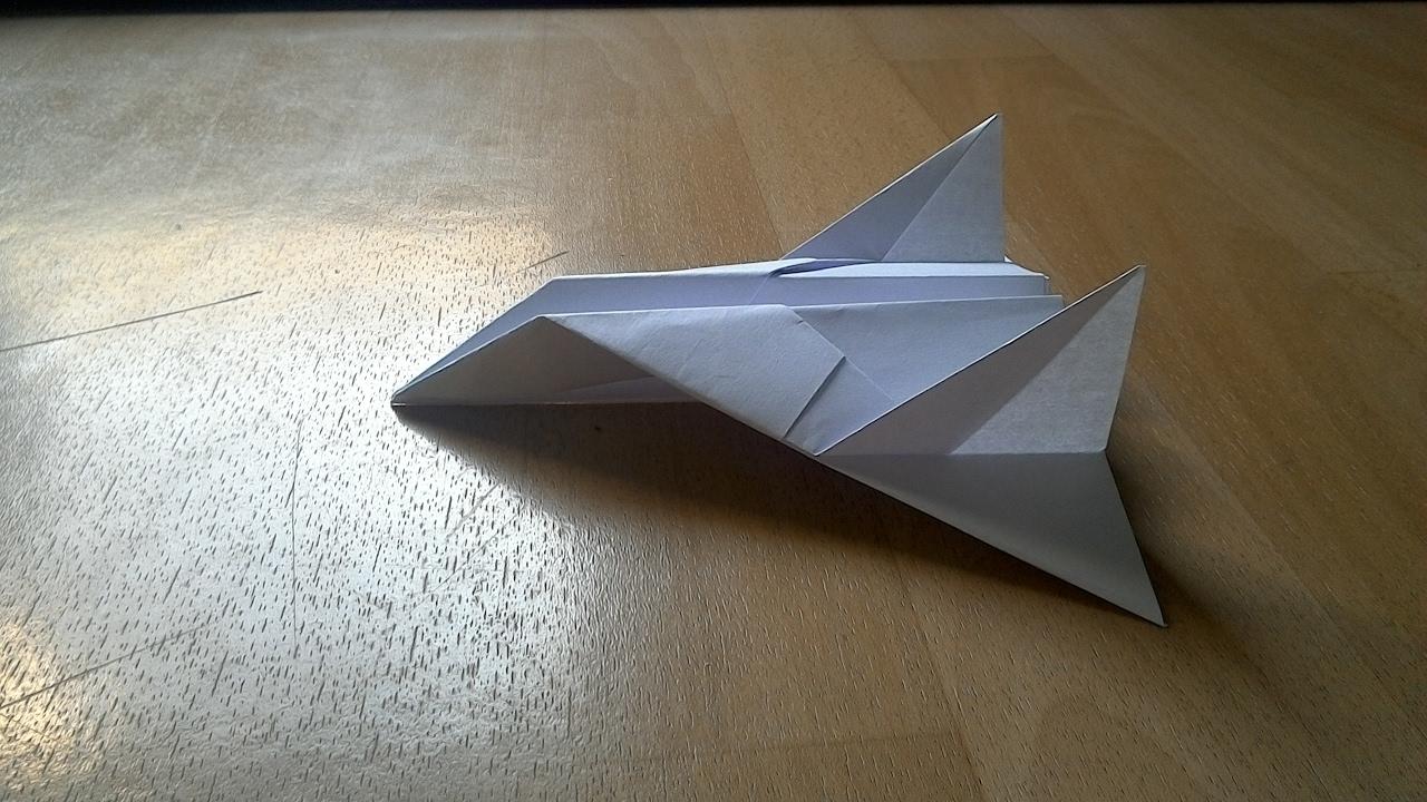 Comment faire un avion de chasse en papier youtube - Comment faire un porte avion en papier ...