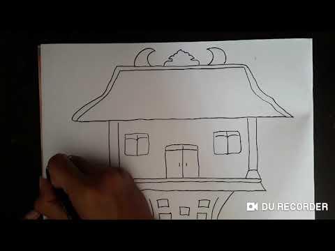 Menggambar Mewarnai Rumah Joglo Yogyakarta Untuk Anak Youtube Cute766