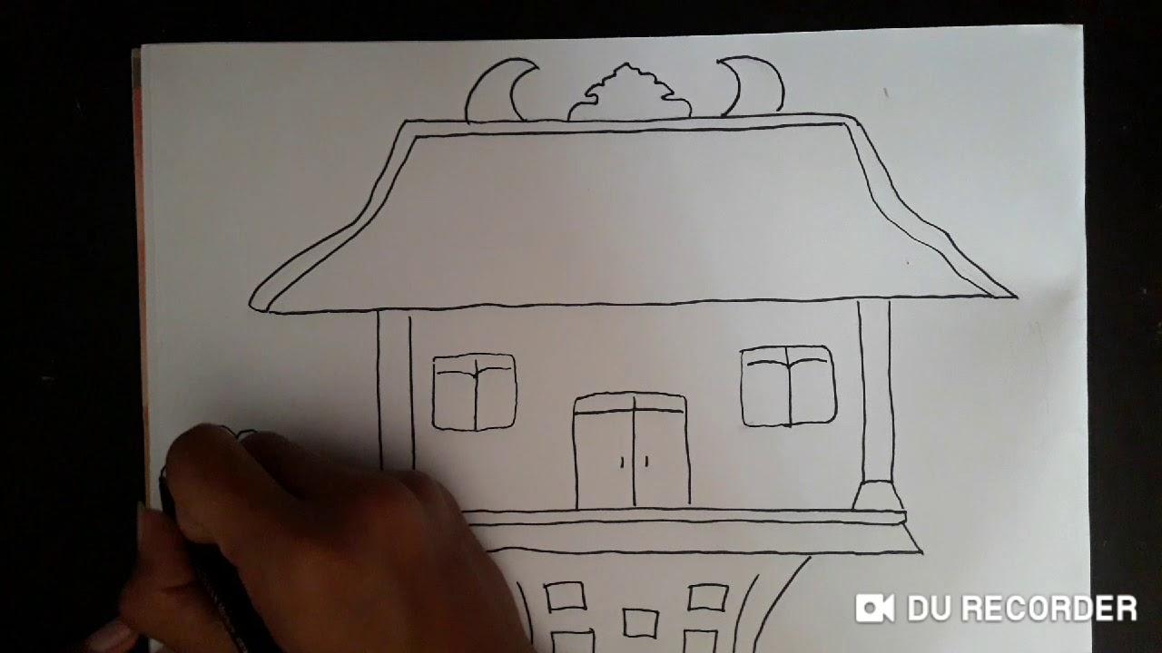 Menggambar Adat Joglo Jawa Tengah