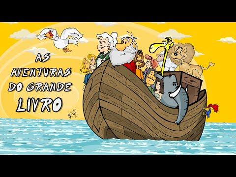 A Arca de Noé em desenho animado, em português, desenho infantil bíblico para a Escola Dominical