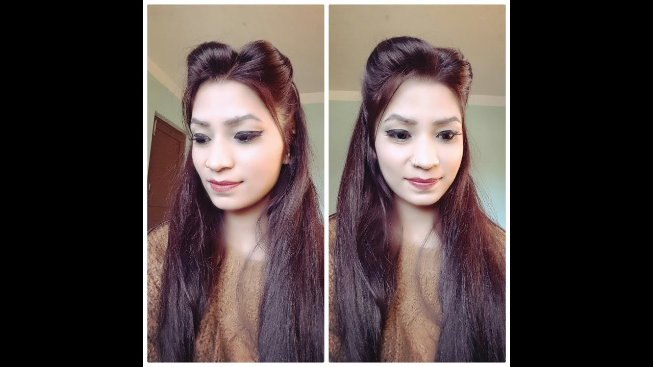 Simple Two Side Puff Hairstyle For Girls Youtube