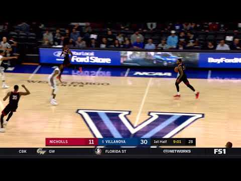 #BIGEASThoops Highlights: Villanova vs. Nicholls State