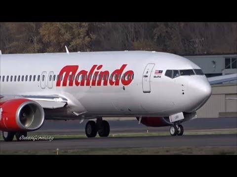New Malindo Air Boeing 737-800 Finishes Test Flight w/ Brake Test @ KBFI Boeing Field