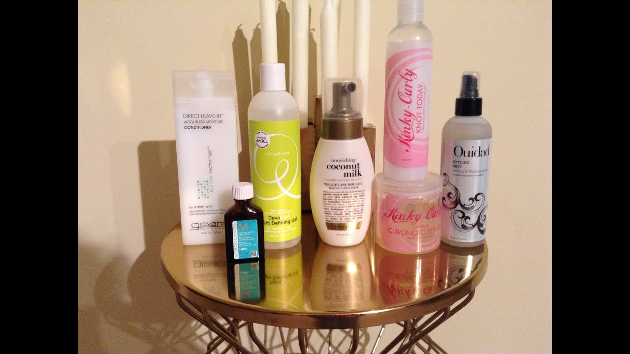 Styling Products For Fine/Thin Curly Hair PART ONE