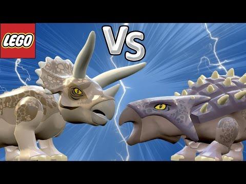 TRICERATOPS VS ANQUILOSSAURO - LEGO Jurassic World | JURASSIC BATTLES #03