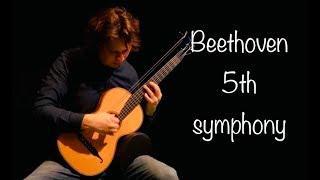 Beethoven's 5th Symphony on Classical Guitar [Allegro Con Brio] - Rolf van Meurs